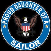 Proud Daughter of a Sailor U.S. Navy Round Decal