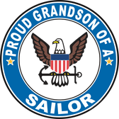 Proud Grandson of a Sailor U.S. Navy Round Decal