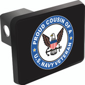 Proud Cousin of a U.S. Navy Veteran Trailer Hitch Cover