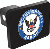 Proud Granddaughter of a Sailor Trailer Hitch Cover