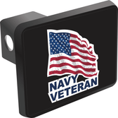 U.S. Navy Veteran with American Flag Hitch Cover