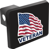 Veteran with American Flag Hitch Cover