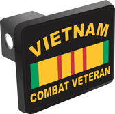 Vietnam Combat Veteran with Ribbon Hitch Cover