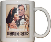 "Famous ""He Volunteered"" Poster Submarine Coffee Mug"