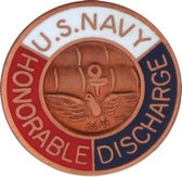 Lapel Pin, US Navy Honorable Discharge