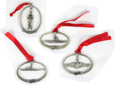 Pewter Submarine Holiday Ornaments