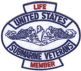 "USSVI 3"" Life Member Patch"
