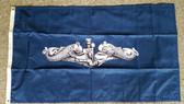 3x5 Silver Dolphin Flag - Made in the USA!