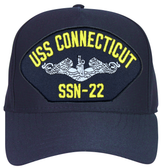 USS Connecticut SSN-22 (Silver Dolphins) Submarine Enlisted Cap