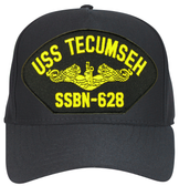 USS Tecumseh SSBN-628 ( Gold Dolphins ) Custom Embroidered Submarine Officer Cap