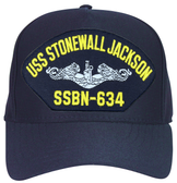 USS Stonewall Jackson SSBN-634 (Silver Dolphins) Submarine Enlisted Cap