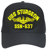 USS Sturgeon SSN-637 (Gold Dolphins) Submarine Officer Cap