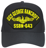 USS George Bancroft SSBN-643 (Gold Dolphins) Submarine Officers Cap