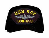USS Ray SSN-653 (Silver Dolphins) Submarine Enlisted Custom Embroidered Cap