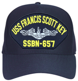 USS Francis Scott Key SSBN-657 (Silver Dolphins) Submarine Enlisted Cap
