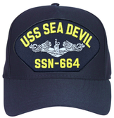 USS Seadevil SSN-664 (Silver Dolphins) Submarine Enlisted Cap