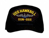USS Hawkbill SSN-666 Blue Water (Silver Dolphins) Submarine Enlisted Custom Embroidered Cap