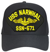 USS Narwhal SSN-671 (Gold Dolphins) Submarine Officer Custom Embroidered Cap