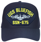 USS Bluefish SSN-675 ( Silver Dolphins ) Submarine Enlisted Custom Embroidered Cap