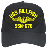 USS Billfish SSN-676 ( Gold Dolphins ) Submarine Custom Embroidered Officers Cap