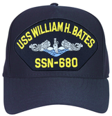 USS William H. Bates SSN-680 Blue Water (Silver Dolphins) Submarine Enlisted Cap