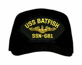 USS Batfish SSN-681 (Gold Dolphins) Submarine Officers Cap