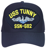 USS Tunny SSN-682 Blue Water (Silver Dolphins) Submarine Enlisted Cap