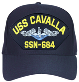 USS Cavalla SSN-684 Blue Water (Silver Dolphins) Submarine Enlisted Embroidered Cap