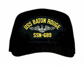 USS Baton Rouge SSN-689 (Silver Dolphins) Submarine Enlisted Direct Embroidered Cap