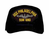USS Philadelphia SSN-690 ( Silver Dolphins ) Submarine Enlisted Cap