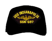 USS Indianapolis SSN-697 (Gold Dolphins) Submarine Officers Direct Embroidered Cap