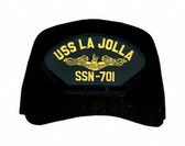 USS La Jolla SSN-701 (Gold Dolphins) Submarine Officers Cap