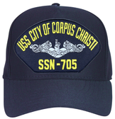 USS City of Corpus Christi SSN-705 (Silver Dolphins) Submarine Enlisted Cap