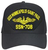 USS Minneapolis - Saint Paul SSN-708 (Gold Dolphins) Submarine Officer Cap