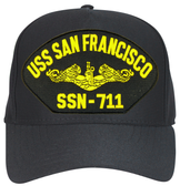 USS San Francisco SSN-711 (Gold Dolphins) Submarine Officer Cap