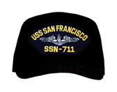 USS San Francisco SSN-711 (Silver Dolphins) Submarine Enlisted Cap
