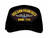 USS San Francisco SSN-711 Blue Water (Silver Dolphins) Submarine Enlisted Cap