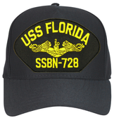 USS Florida SSBN-728 (Gold Dolphins) Submarine Officers Cap