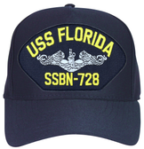 USS Florida SSBN-728 ( Silver Dolphins ) Custom Embroidered Submarine Enlisted Cap