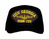 USS Georgia SSBN-729 (Gold Dolphins) Submarine Officers Cap
