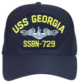 USS Georgia SSBN-729 (Silver Dolphins) Submarine Enlisted Cap