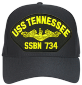 USS Tennessee SSBN-734 ( Gold Dolphins ) Custom Embroidered Submarine Officer Cap