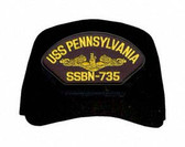 USS Pennsylvania SSBN-735 (Gold Dolphins) Submarine Officer Cap