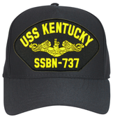 USS Kentucky SSBN-737 (Gold Dolphins) Submarine Officers Direct Embroidered Cap
