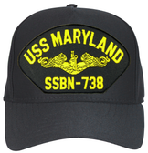 USS Maryland SSBN-738 (Gold Dolphins) Submarine Officers Cap