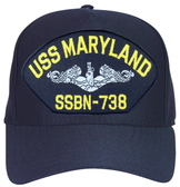 USS Maryland SSBN-738 (Silver Dolphins) Submarine Enlisted Cap