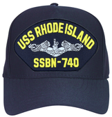 USS Rhode Island SSBN-740 (Silver Dolphins) Submarine Enlisted Cap