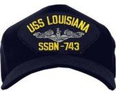 USS Louisiana SSBN-743 (Silver Dolphins) Submarine Enlisted Cap