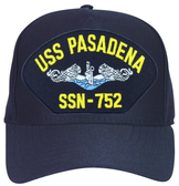 USS Pasadena SSN-752 Blue Water ( Silver Dolphins ) Custom Embroidered Submarine Enlisted Cap