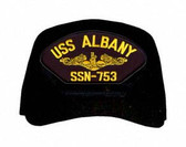 USS Albany SSN-753 (Gold Dolphins) Submarine Officers Direct Embroidered Cap